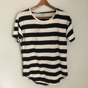 Madewell Black and White Striped Tee sz M